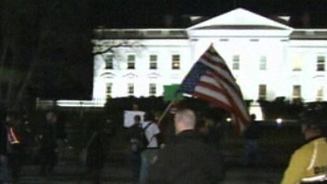 Occupy DC protesters outside the White House