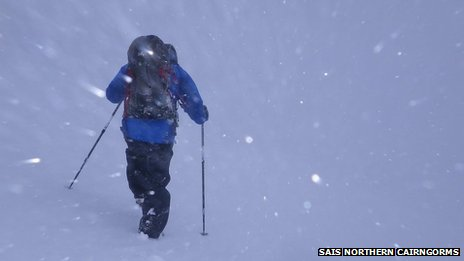 White out Northern Cairngorms on 5 January. Pic: SAIS