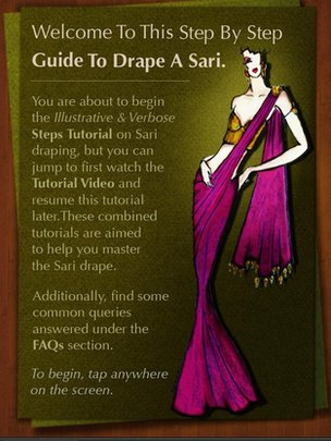 An application showing how to tie saris