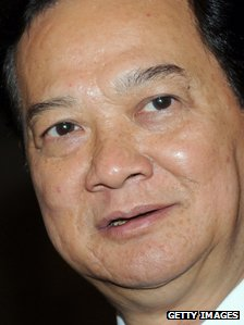 Vietnamese premier Nguyen Tan Dung