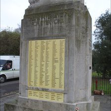 War memorial in Carshalton, Sutton, where plaques were stolen