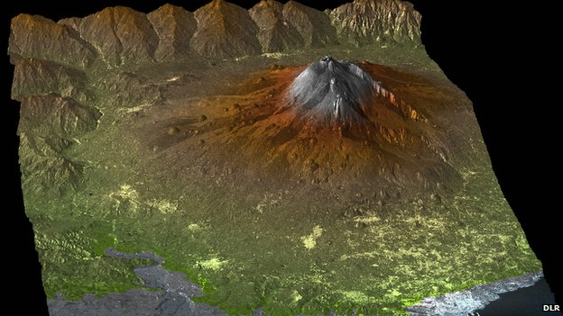 The TanDEM-X Digital Elevation Model of Mount Etna, Sicily, Italy