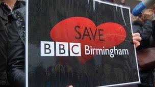 Save BBC Birmingham banner