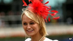 Ascot race goer wearing a fascinator