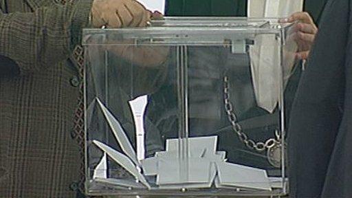 Ballot box in European Parliament