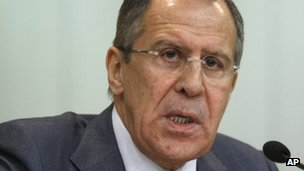 Sergei Lavrov in Moscow (18 January 2012)