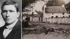 Edgar Evans and the village of Middleton on Gower where he was born.