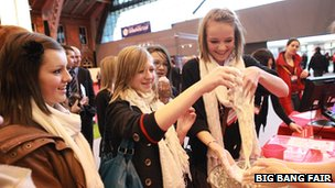 pupils at big bang fair