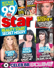 Scan of the front cover of Star Magazine
