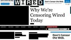 "Wired homepage ""censored"" for Sopa protest"