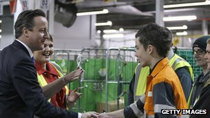 David Cameron meets young apprentices