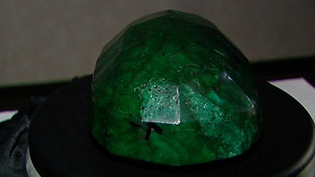 The Giant emerald on display