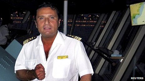 Captain Francesco Schettino in an undated file photo released on 18 January 2012.