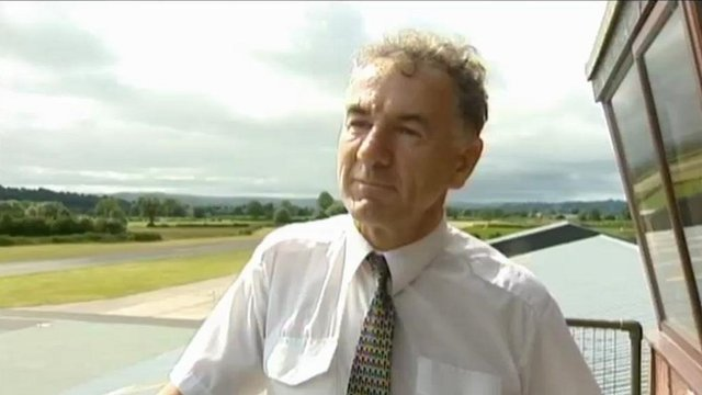 Bob Jones was one of the founders of Mid Wales Airport in the early 1990s