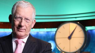 Nick Hewer on the set of Countdown