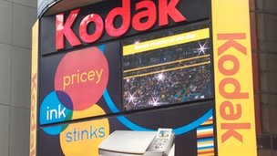 Kodak signs at Times Square, Manhattan