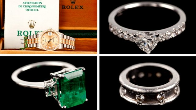 Jewellery stolen from McTear's Auctioneers