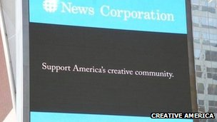 Creative America pro-Sopa advertisement