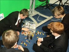 Tendring Technology College pupils play with Lego!
