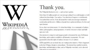 Wikipedia &quot;thank you&quot; page