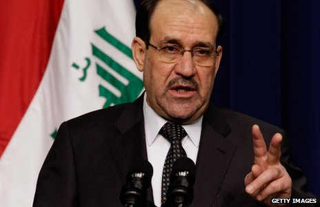 Nouri Maliki in Washington (12 December 2011)