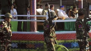 Soldiers from Kachin Independence Army