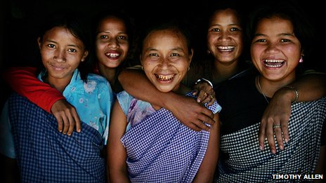 Khasi women smiling