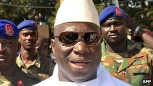 Gambian President Yahya Jammeh