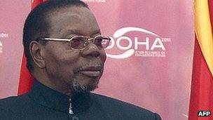 President Bingu wa Mutharika (file image)