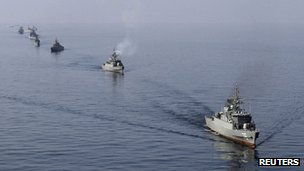 Iranian naval exercise