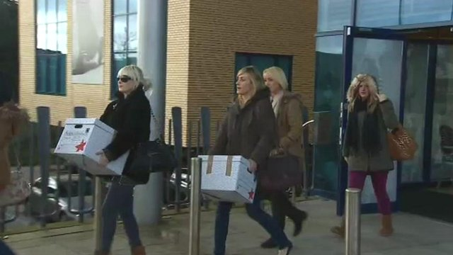 Staff leaving Peacocks&#039; Cardiff HQ