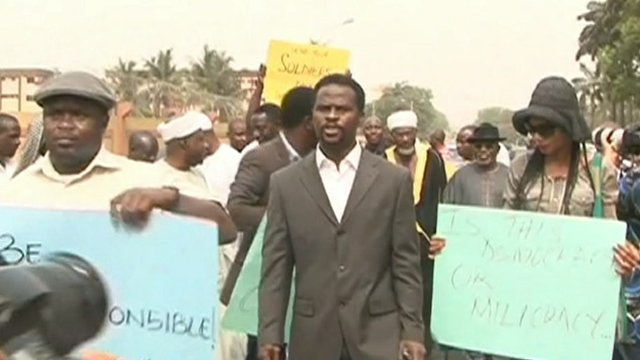Protesters in Nigeria