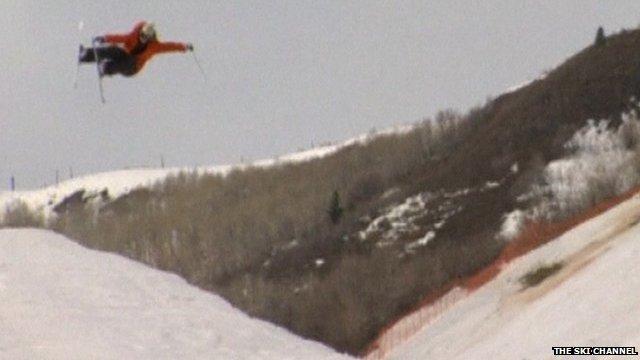 Sarah Burke skiing