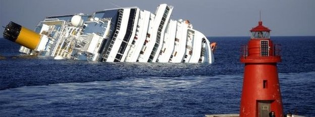 Costa Concordia aground off Giglio (14 January 2011)
