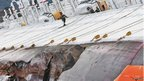 Rescuers work on the cruise ship Costa Concordia as lies stricken off the shore of the island of Giglio, on January 17, 2012