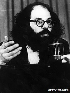 Poet Allen Ginsberg, pictured in the 1960s