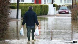 Flooding in Yalding in 2007