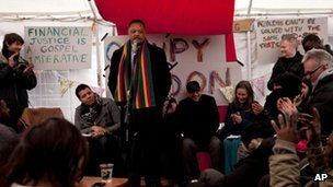 Tent City University at Occupy London camp