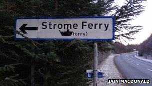 Strome Ferry sign. Pic: Iain MacDonald