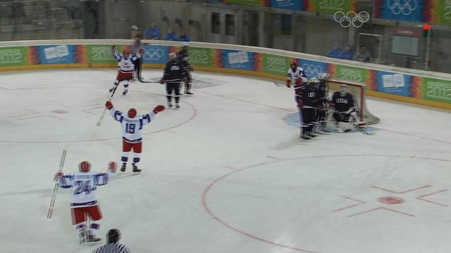 Highlights - Russia thrash USA in Youth Olympics ice hockey