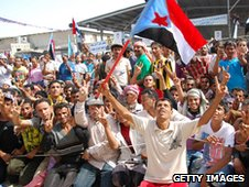 Calling for independence for South Yemen