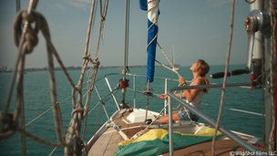 Laura Dekker on board her boat Guppy (file photo)