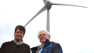 Executive chairman Gus Christie and Sir David Attenborough