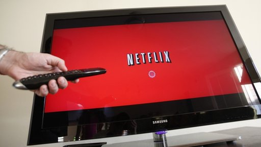 a Netflix subscriber turns on Netflix in Palo Alto