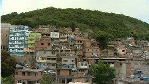Cantagalo Favela in Brazil's Hillside
