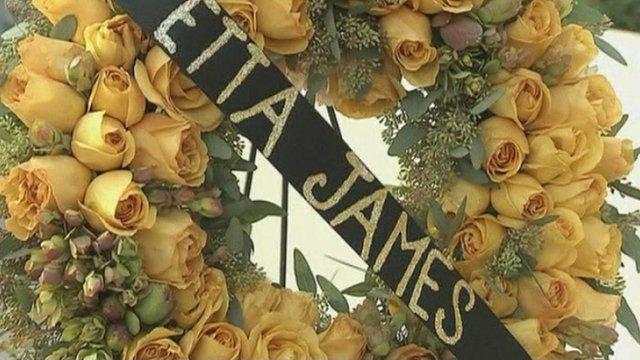 Garland dedicated to Etta James