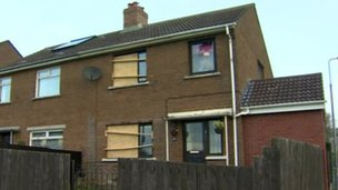 The house in Brooklands Drive, Dundonald was targeted for a second time