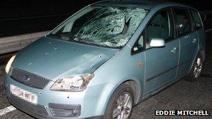 A27 crash vehicle