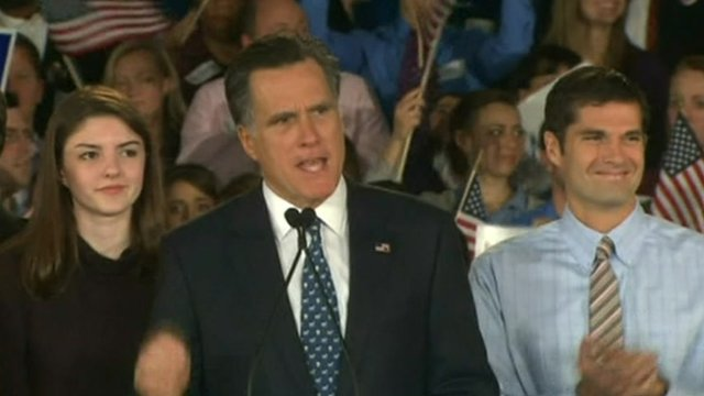 Mitt Romney addresses supporters in South Carolina