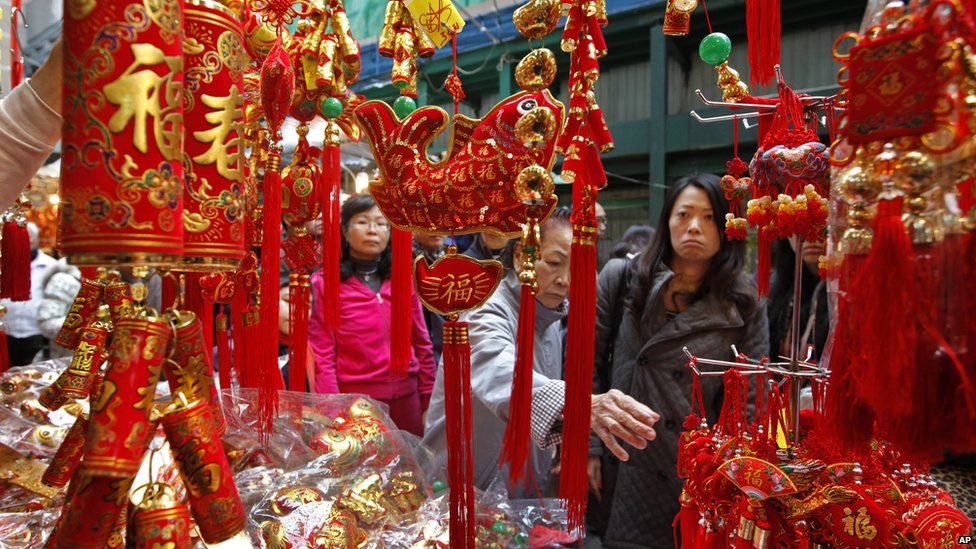 chinese new year charms on sale in hong kong on 22 january 2012 - Chinese New Year 2012